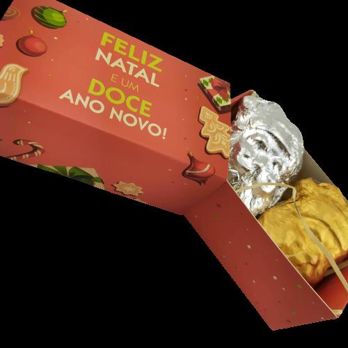 10 Caixas Lembrancinha de Natal Papai Noel Chocolate Gourmet