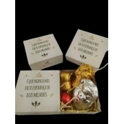 6 Caixas Lembrancinha Feliz Natal Trufa Bombom Marshmallow