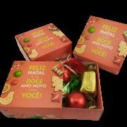 8 Caixas Lembrancinha Feliz Natal Chocolate Gourmet Presente