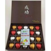 Caixa Chocolate Sucesso 20 Corações Presente Namorado Amor