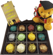 Caixa Chocolate Trufas Presente Formatura Professores Parabéns Sucesso