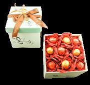 Caixa de Buquê de Flores e Trufas Presente de Chocolate Namorados Amantes Aniversário