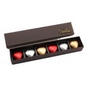 Caixa de Chocolate com Corações Gourmet Presente Carinhoso