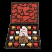 Caixa de Chocolate Corações Gourmet Presente Surpreenda