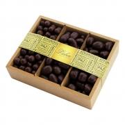 Caixa de Madeira Drágea Crocante Banana, Passas Presente 550