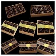 Caixa de Madeira Drágeas Crocante Amêndoas Conhaque Presente
