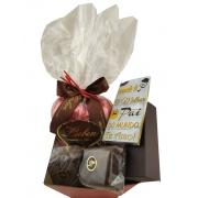Cesta Chocolates Pão de Mel Presente Especial Pai Avô Sogro