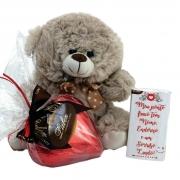 Kit Love Coração de Chocolate Presente Pelúcia Fofinha Amor
