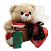 Kit Presente Amigos Coração de Chocolate Pelúcia Apaixonado