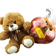 Kit Presente Paixão Coração de Chocolate 370g Pelúcia Amor Eterno