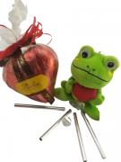 Kit Sapinho da Sorte Coração de Chocolate Presente Namorados