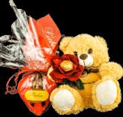 Presente Fofurinha de Aniversário Coração de Chocolate Pelúcia Encantada
