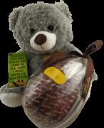 Urso Pelúcia Ovo Crocante Leite Casca Presente Feliz Páscoa