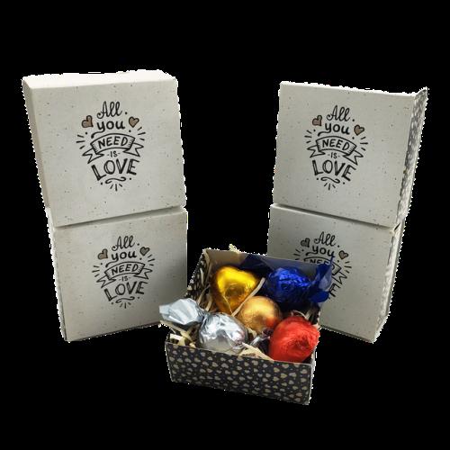 4 Caixas de chocolate para Dia dos Professores Kit Love