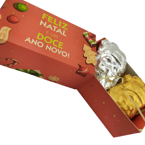 4 Caixas Lembrancinha de Natal Papai Noel Chocolate Gourmet