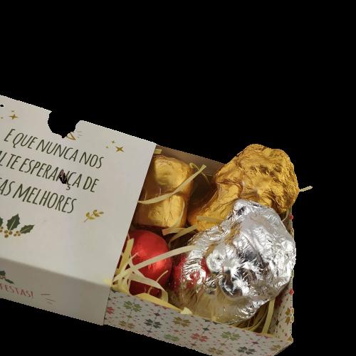 4 Caixas Lembrancinha Feliz Natal Trufa Bombom Marshmallow