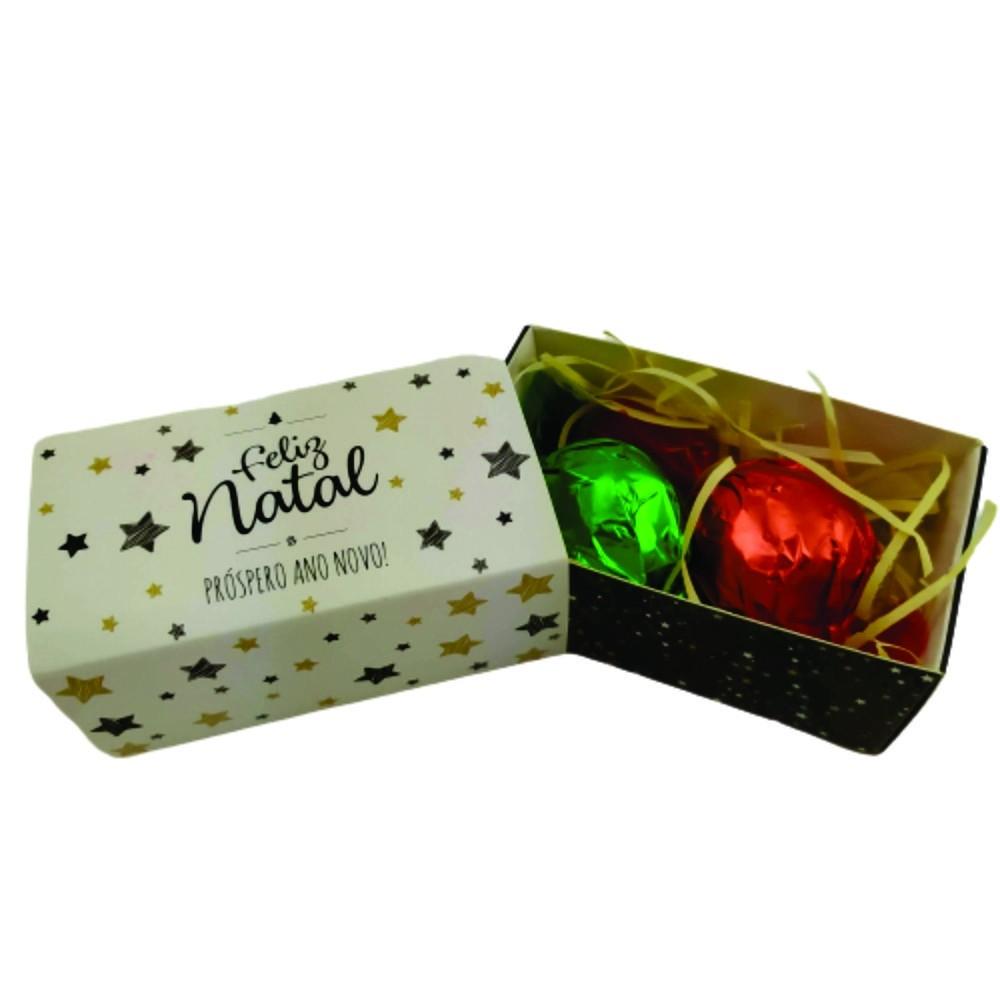 4 Caixas Lembrancinha Feliz Natal Trufas Gourmet Presente