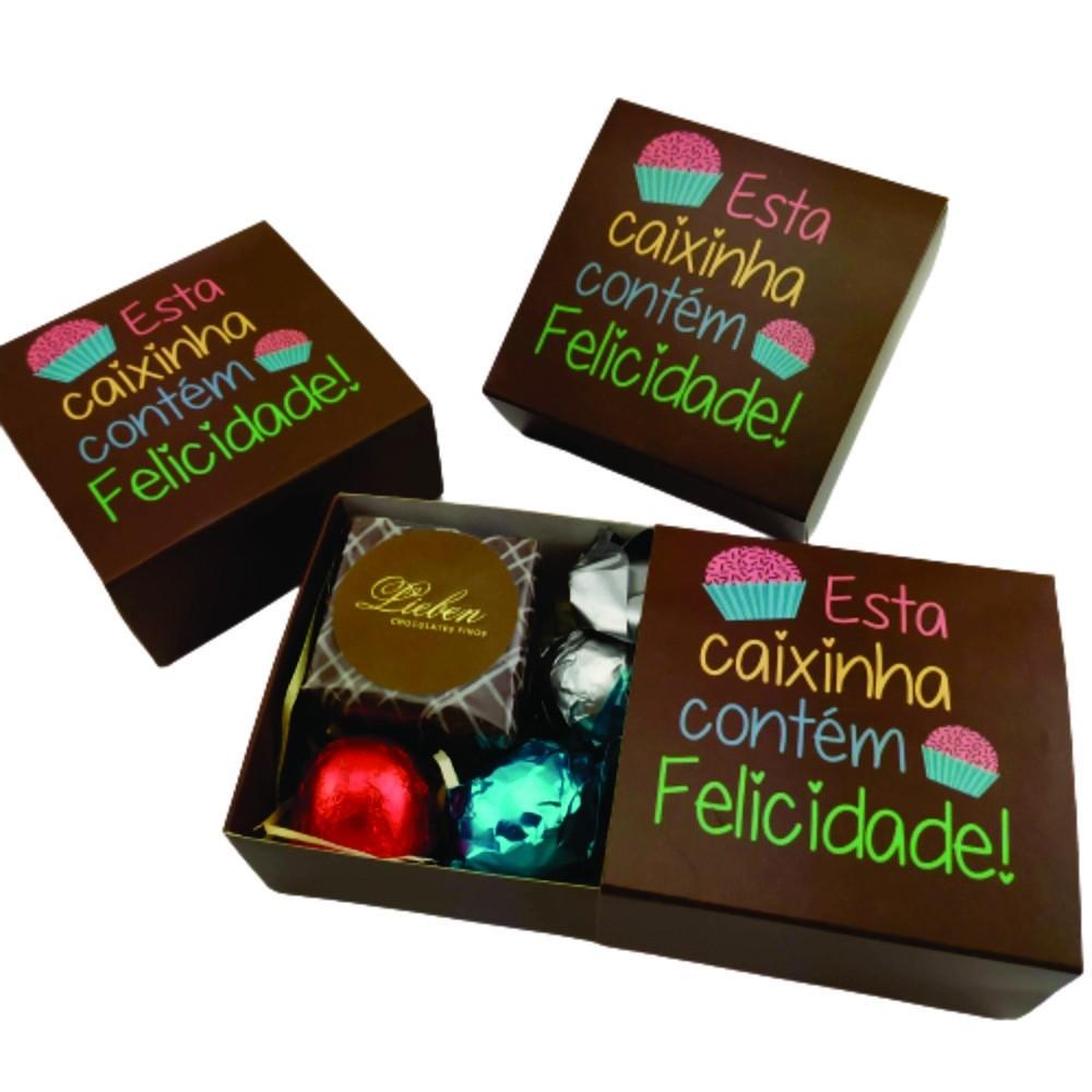 6 Caixas Felicidade Lembrancinha Chocolates Gourmet Presente