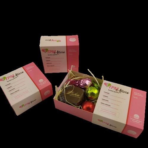 6 Caixas Lembrancinha TPM Trufas Chocolates Gourmet Presente