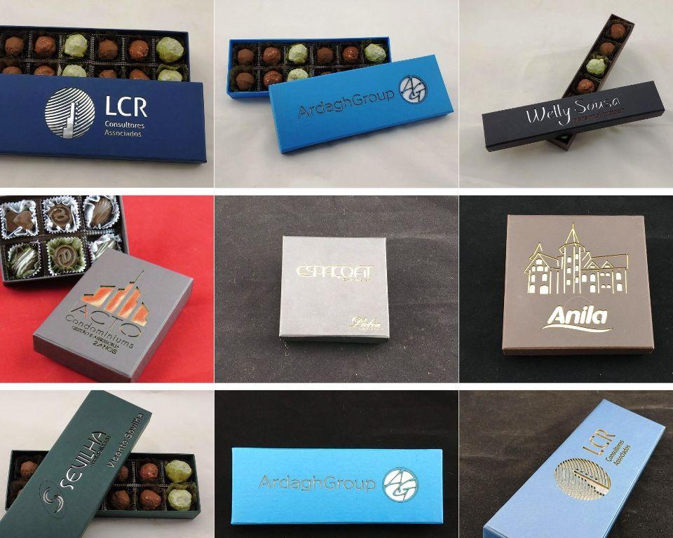 Brindes corporativos personalizados em chocolate - Caixa Super Premium - Preço Sob consulta