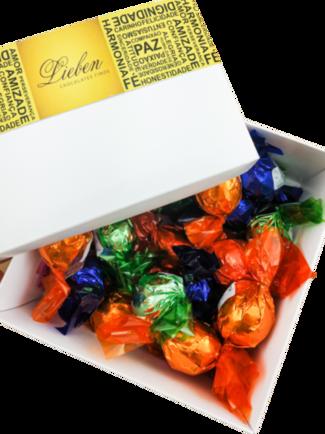 Caixa com 15 Trufas Sortidas Chocolate Artesanal Gourmet Campos Presente