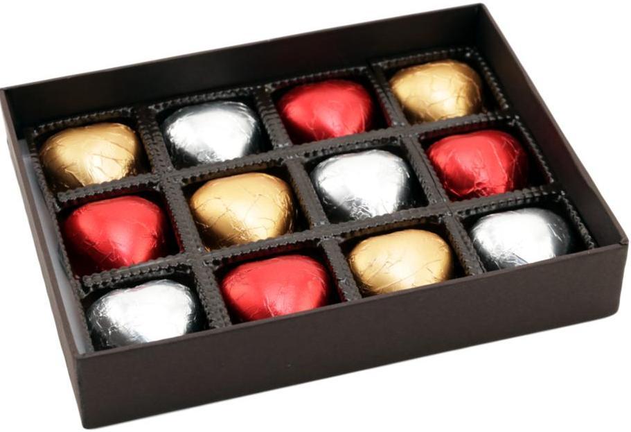 Caixa Corações de Chocolate Presente Namorados Bodas Amor