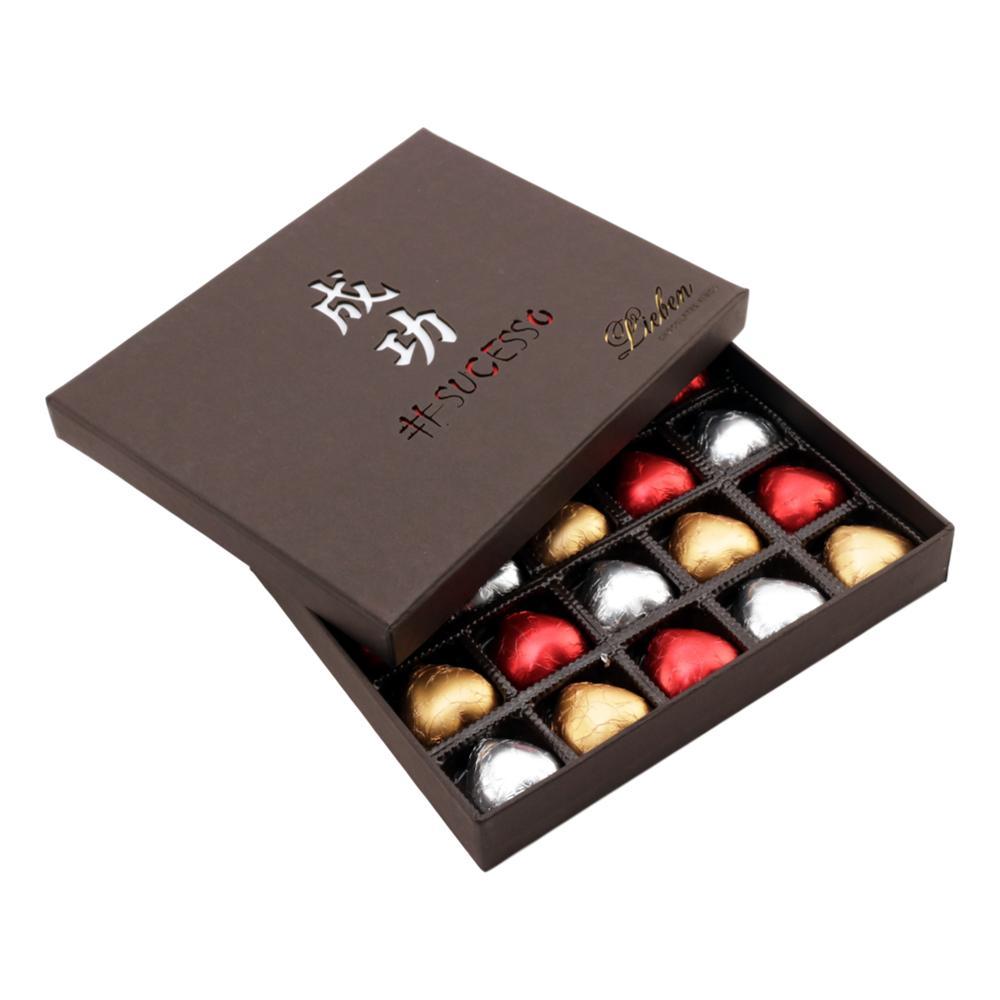 Caixa de Chocolate com Corações Recheados Gourmet Presente