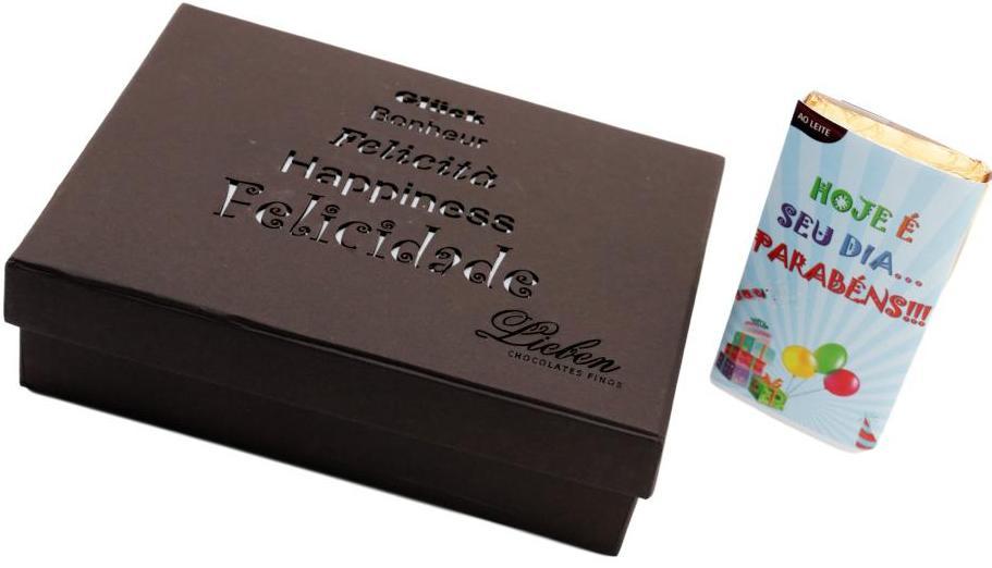 Caixa de Chocolate com Corações Trufas Marshmallow Presente