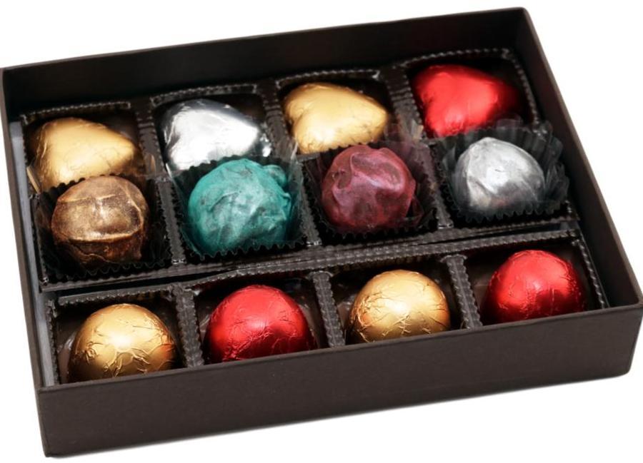 Caixa de Chocolate Coração Marshmallow Presente Aniversário