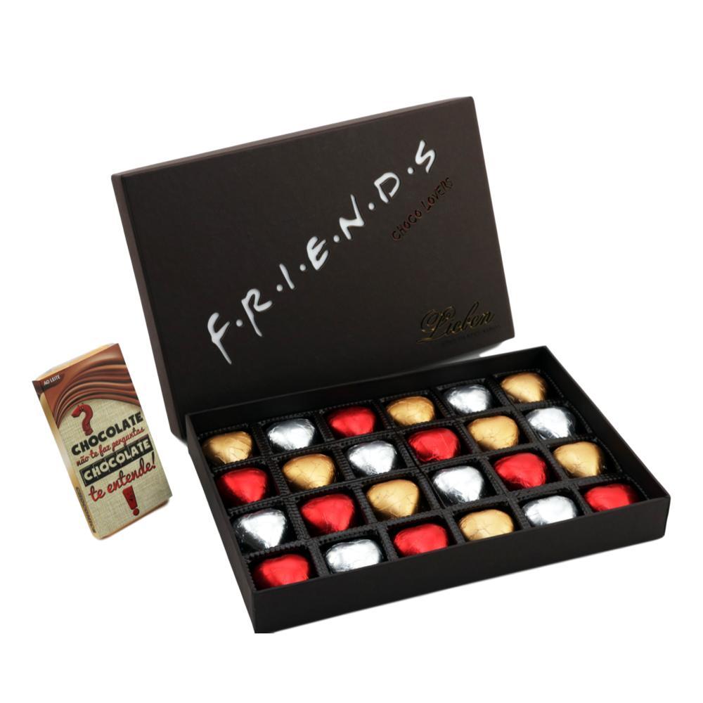 Caixa de Chocolate Corações  Gourmet Presente Amigo Madrinha