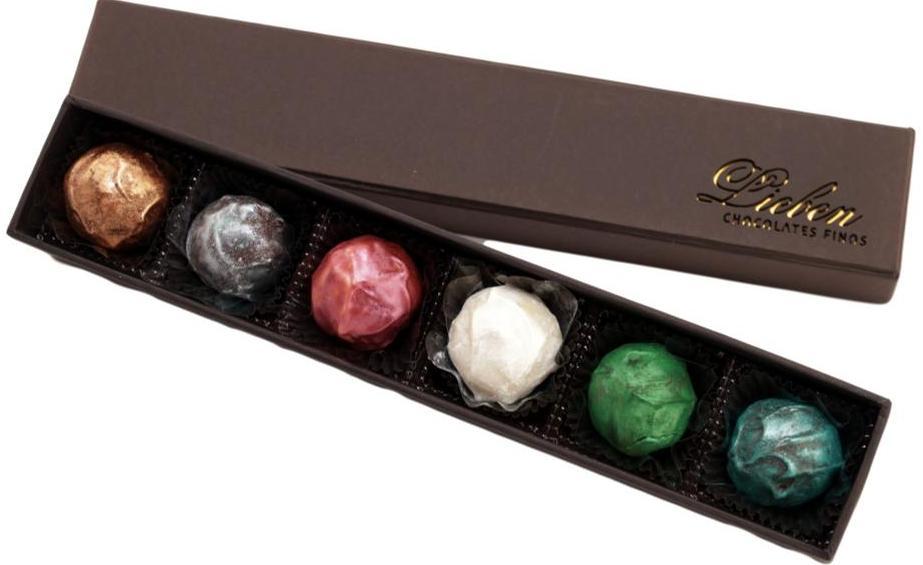 Caixa de Chocolate Trufas Gourmet  Presente Amigos Eternos