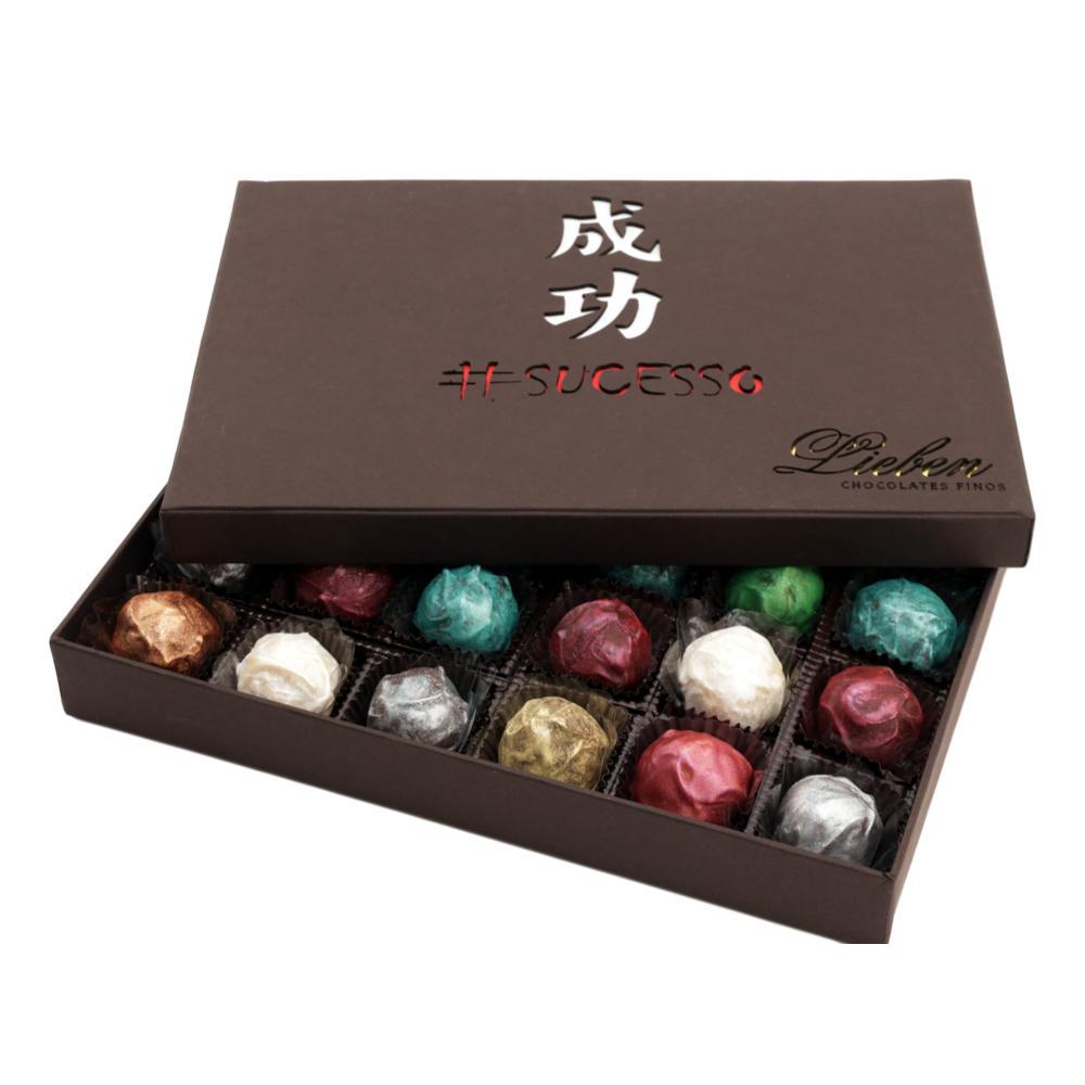 Caixa de Chocolate Trufas Gourmet Presentei com Gratidão