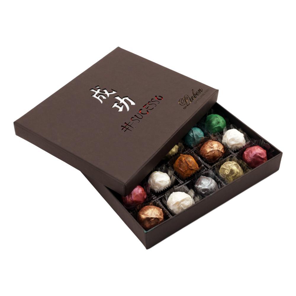 Caixa de Chocolate Trufas Gourmet Recheada Sortida Presente 20 unidades