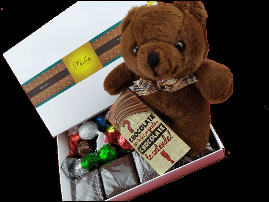 Caixa de Chocolates para Presente com Pelúcia Encanto