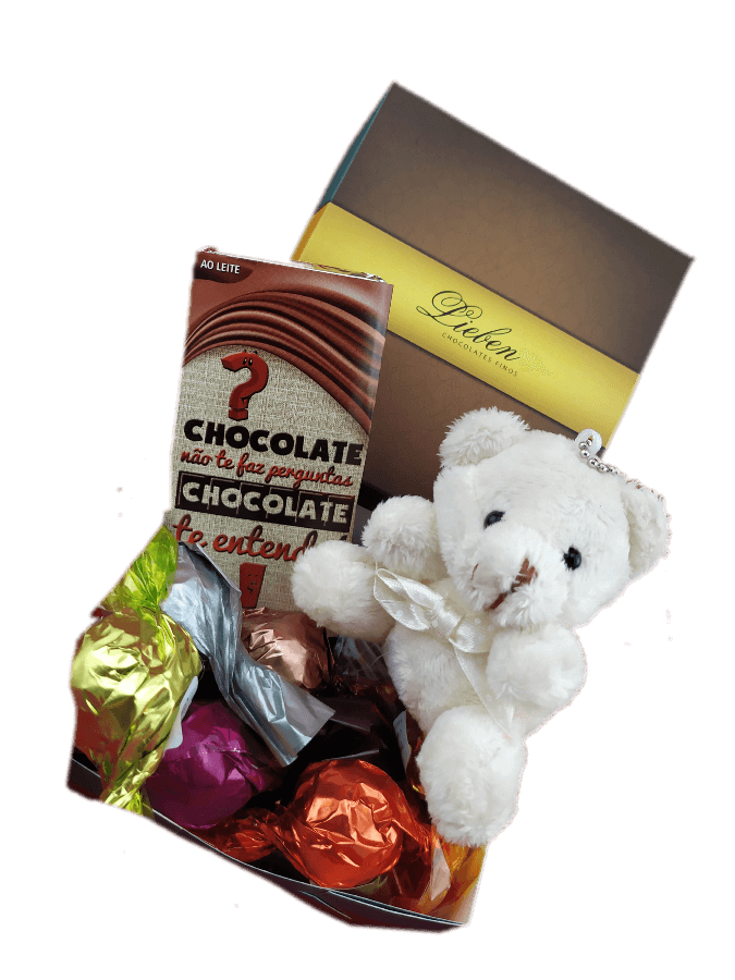 Caixa de Chocolates Sortidos Ursinho Fofinho  Carinhoso