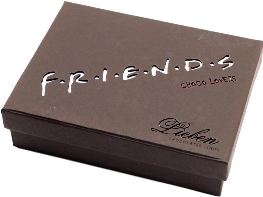 Caixa de Corações Pelúcia Presente  Super Amigos Friends