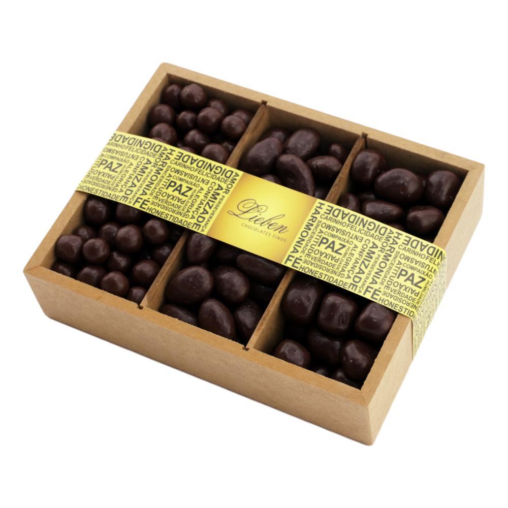 Caixa de Madeira Drágeas Crocante Amêndoas e Conhaque 550