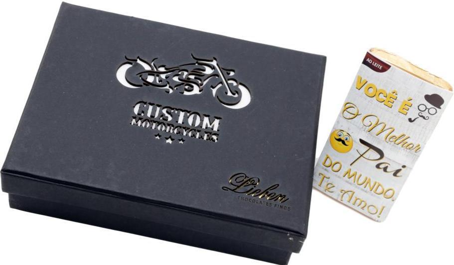 Caixa de Trufas Gourmet Presente Motociclista Pai Te Amo