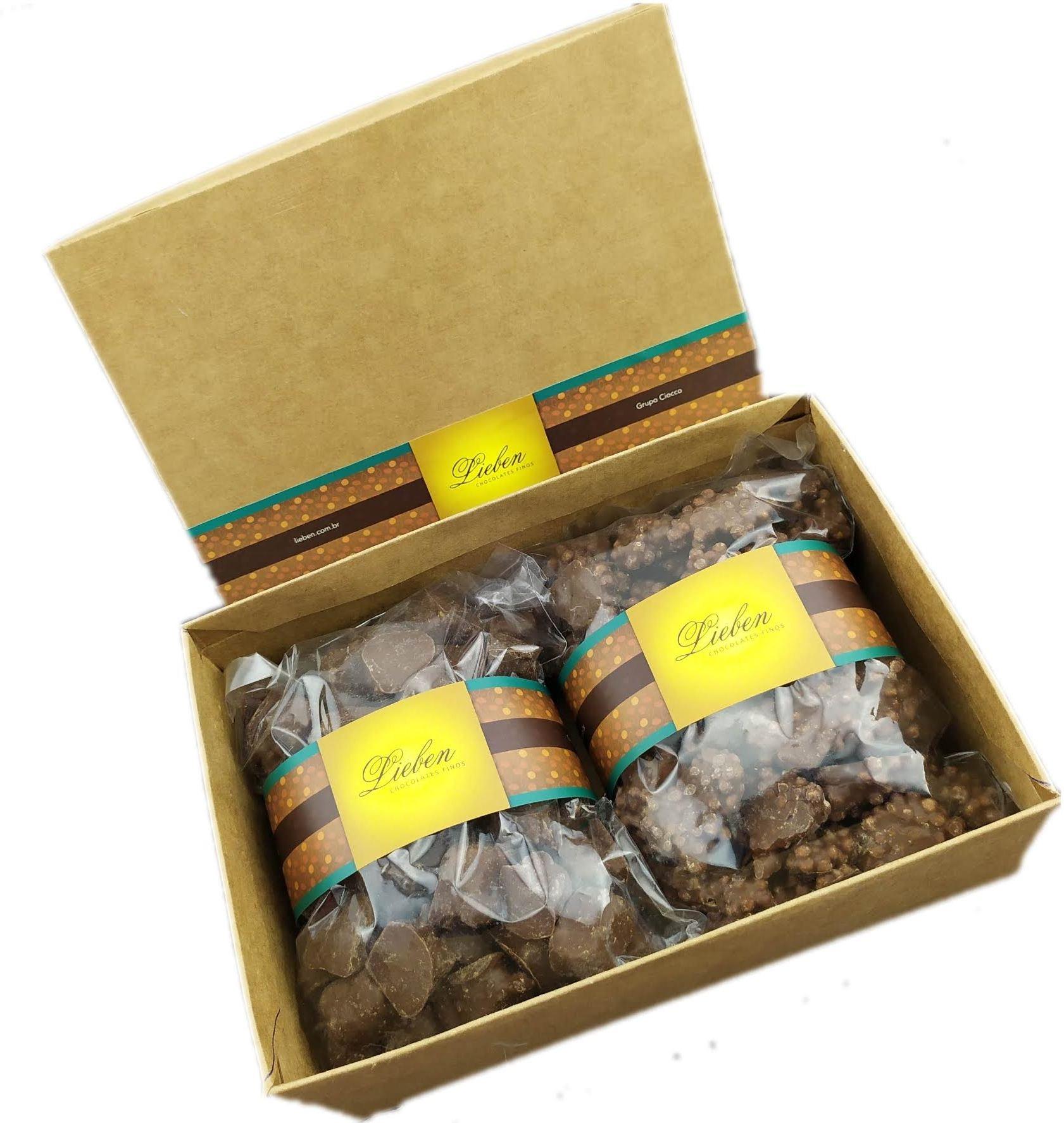 Caixa mini pães de mel e crespinhos com 800 g