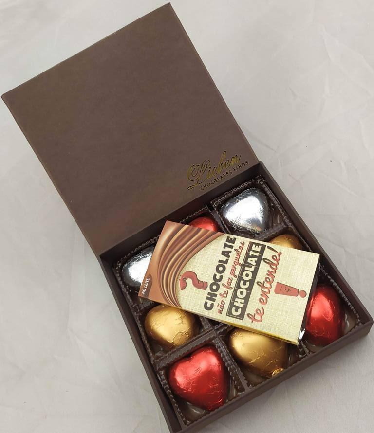 Caixa Super Premium 09 Corações Sortidos Presente