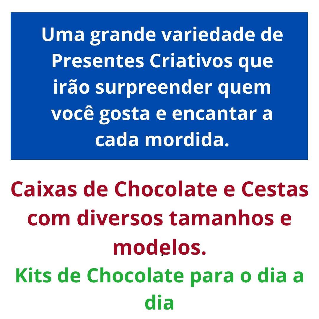 Cesta Chocolates Sortidos Presente Madrinha Pão De Mel Trufa