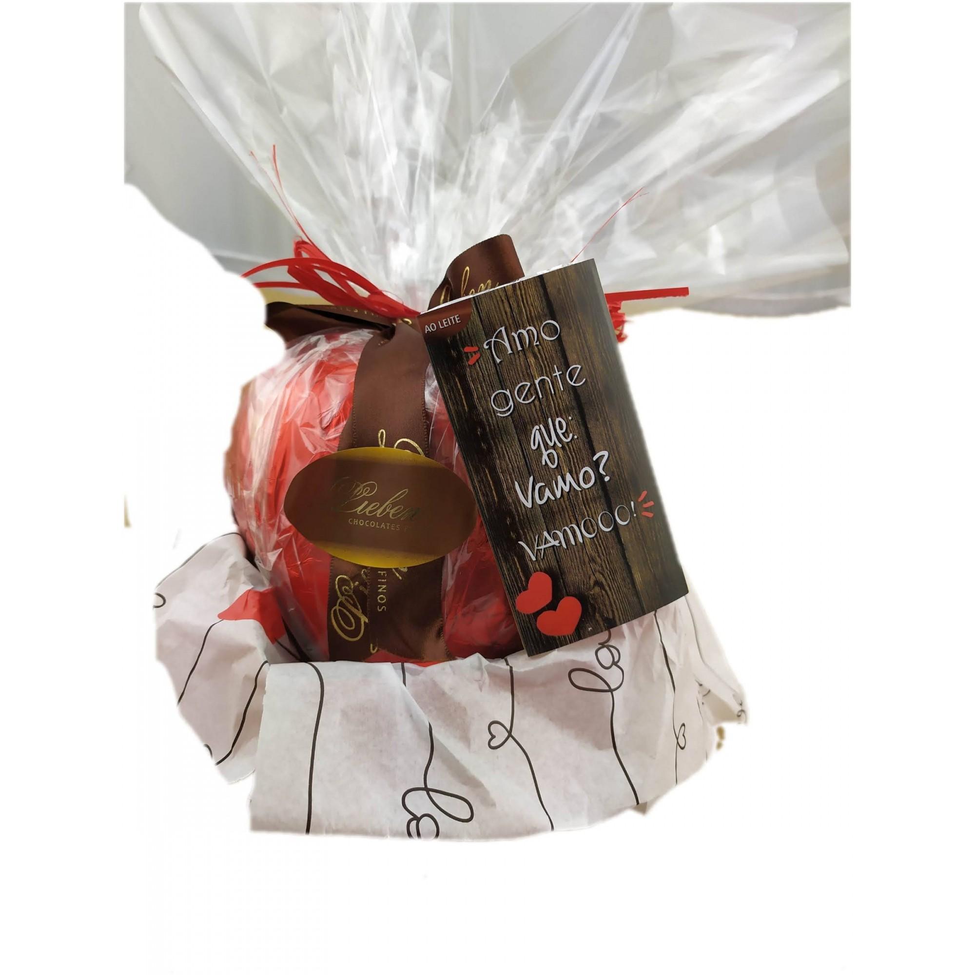 Cesta de Chocolates Sortidos Luxuosa Presente para Amigos