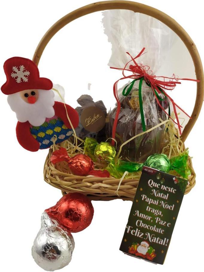 Cesta Natal  Presente Final de Ano Amigo Secreto Chocotone
