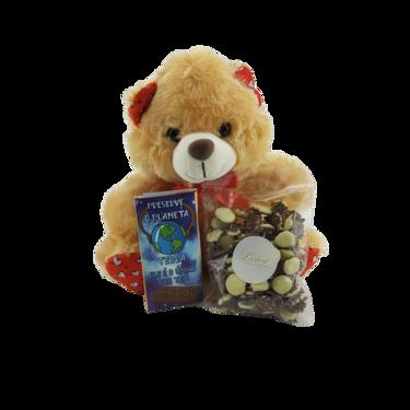 Chocolate Branco para o Dia das Crianças com Ursinho