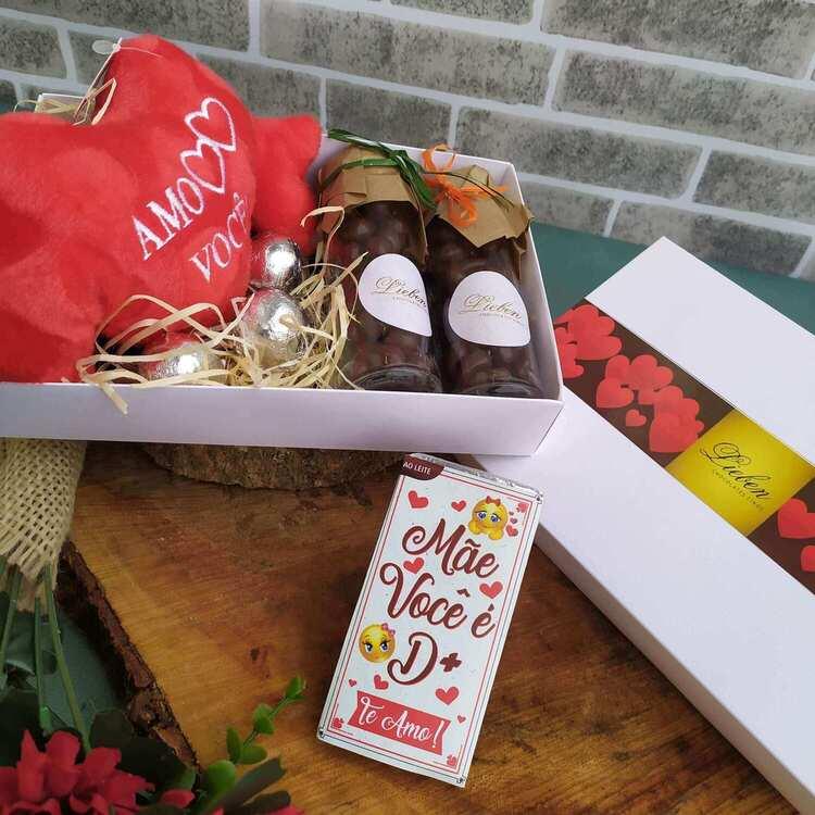 Chocolate Para Presente Drageas Marshmallow Pelúcia de Coração Dia dos Pais Você é Especial Amo Você