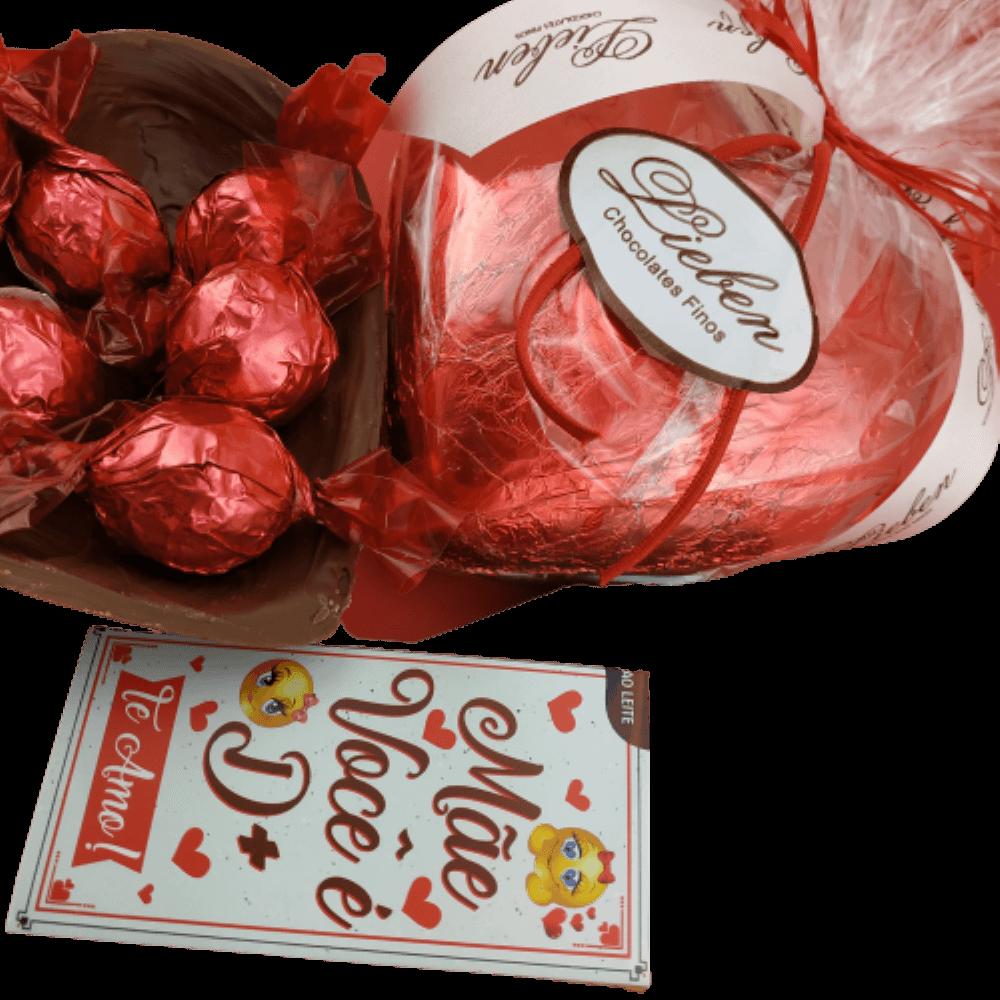 Chocolate Para Presente Espumante Flor Coração Dia das Mães
