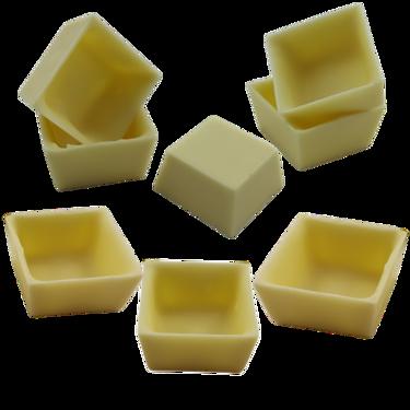 Copinhos para Doces de Festa Formato Caixinha Chocolate Branco - Cento