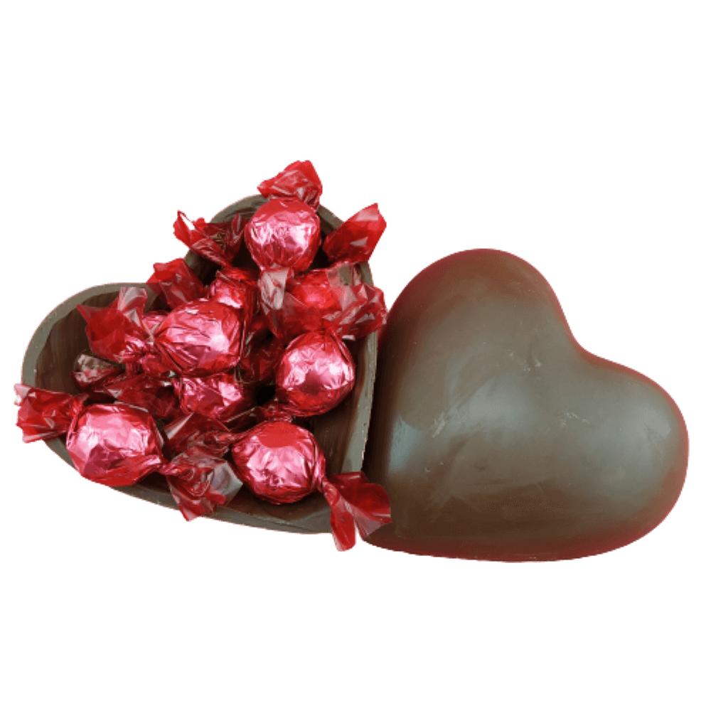 Coração Trufado na Casca 250g Presente Especial Namorados Amigos Surpreenda