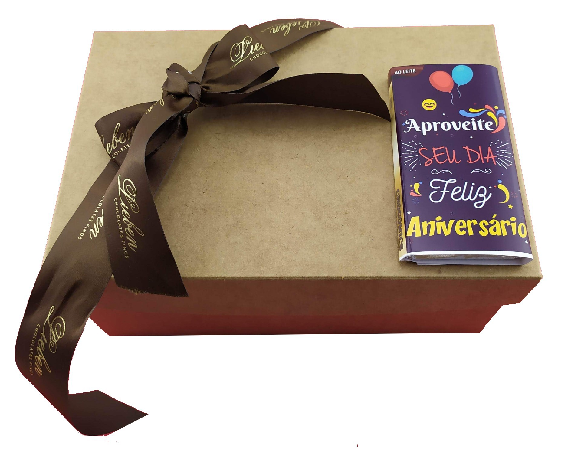 Kit Coração ao Leite Chocolate Sortido Pães de Mel Parabéns