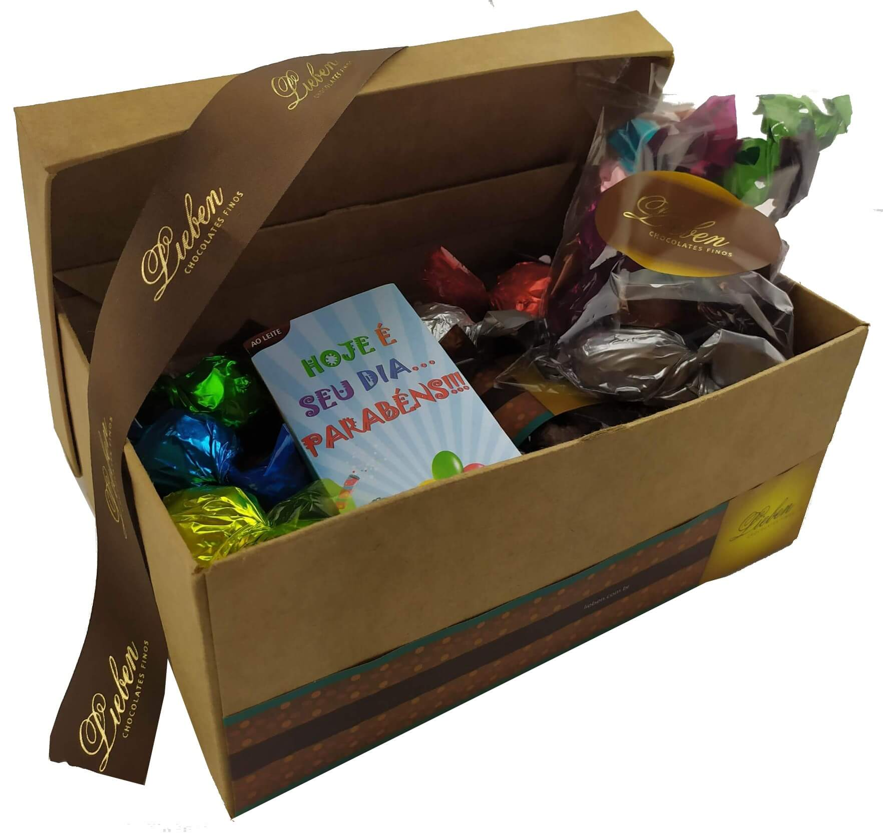 Kit de Chocolates Sortidos Trufas Presente De Aniversário